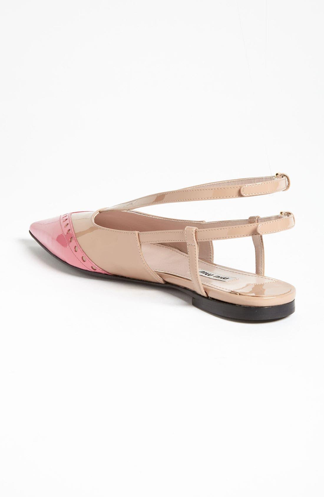 Alternate Image 2  - Miu Miu Pointed Toe Ballet Flat
