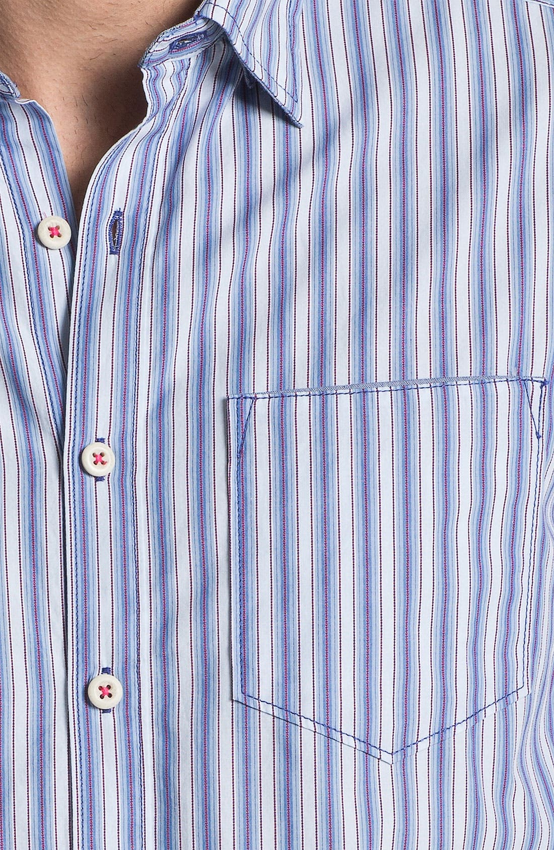 Alternate Image 3  - Tommy Bahama Denim 'Stripe Tease' Sport Shirt