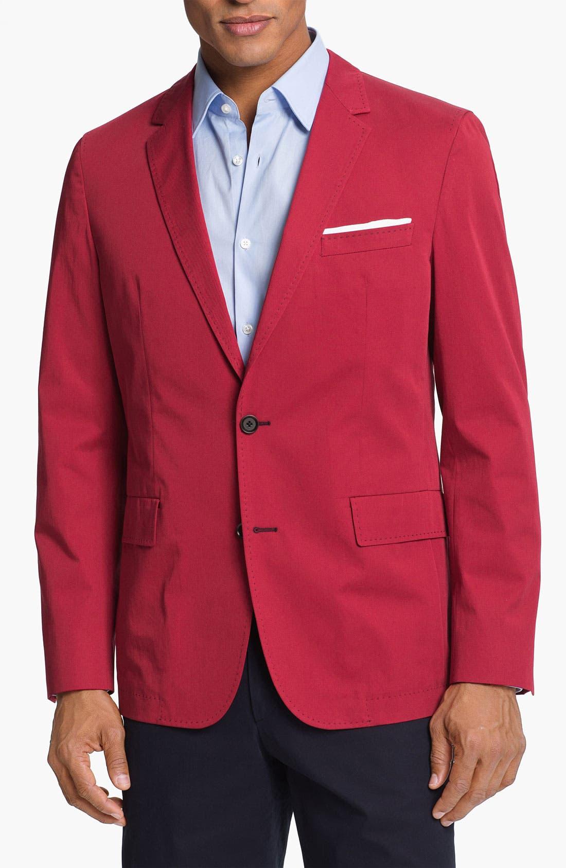 Main Image - BOSS HUGO BOSS 'Miles' Trim Fit Cotton Blazer (Online Only)
