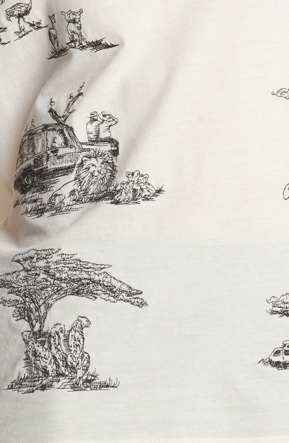 Alternate Image 4  - Carven Embroidered Safari Print Top