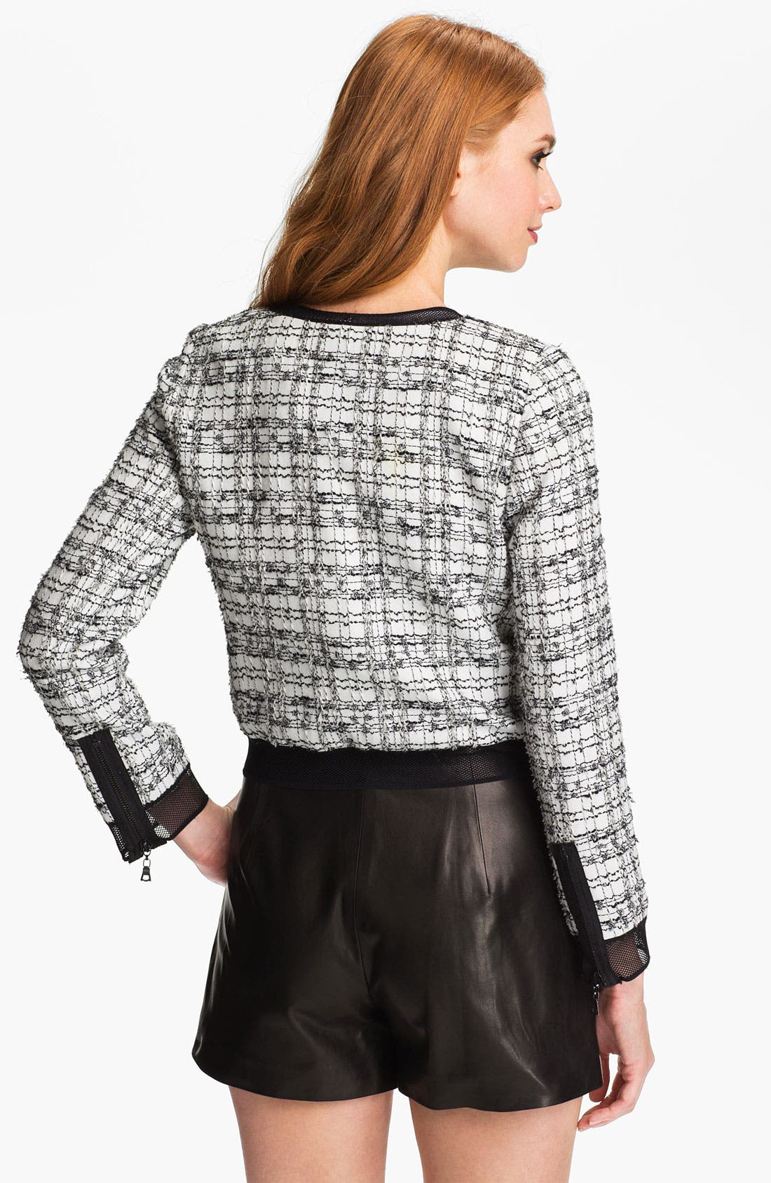 Alternate Image 2  - Milly Crop Moto Jacket