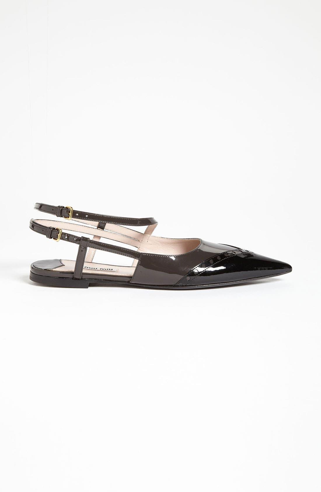 Alternate Image 4  - Miu Miu Pointed Toe Ballet Flat (Nordstrom Exclusive)