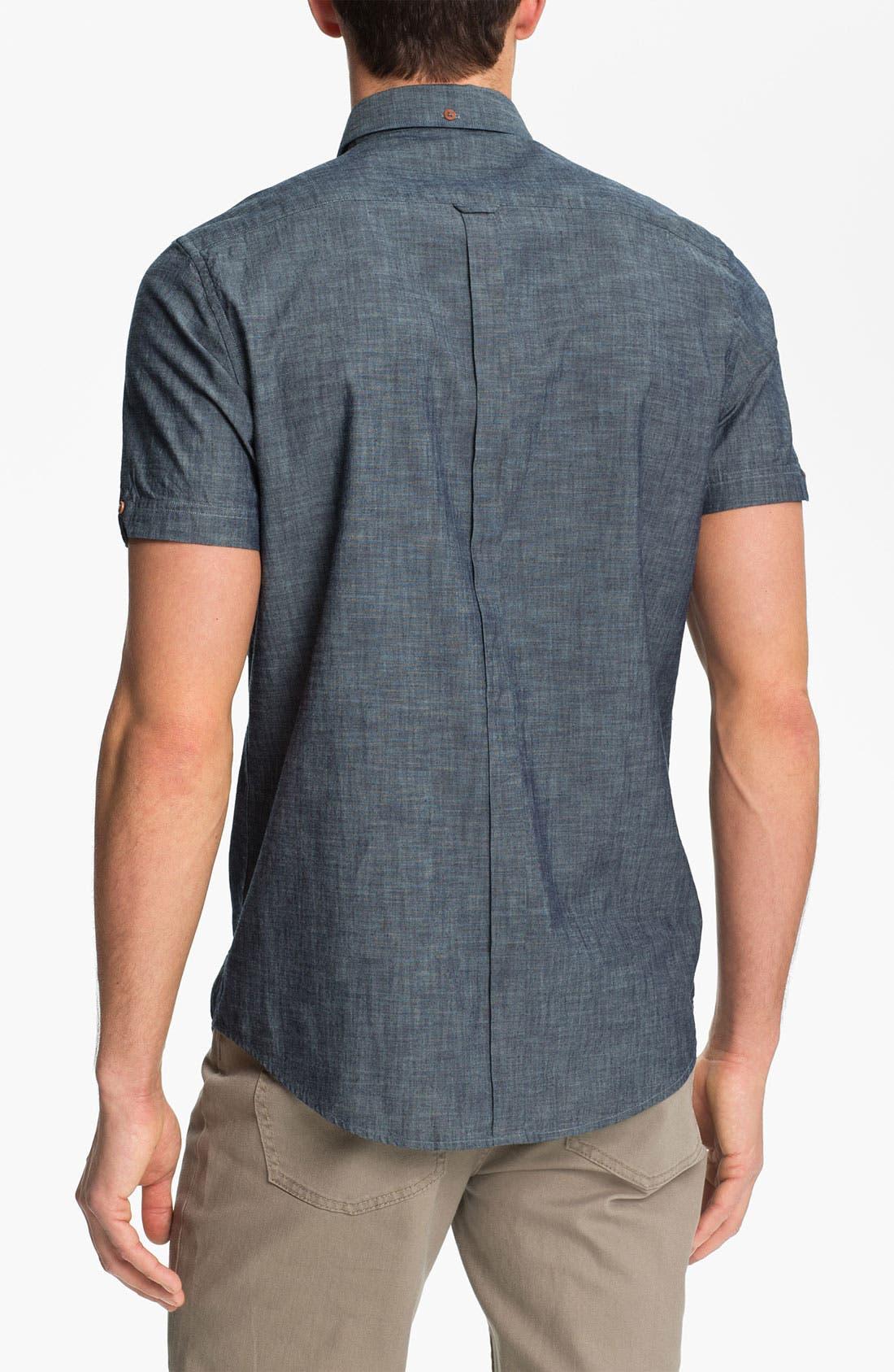 Alternate Image 2  - Ben Sherman Short Sleeve Chambray Shirt