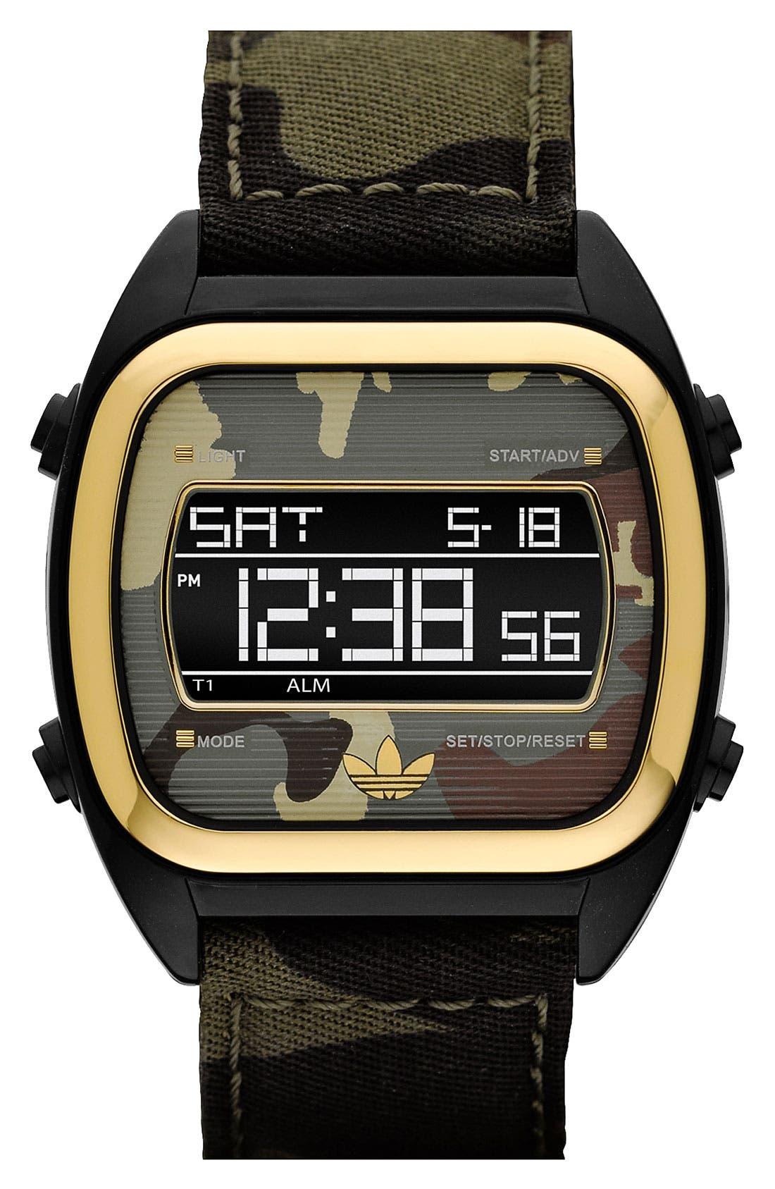 Alternate Image 1 Selected - adidas Originals 'Sydney' Digital Camo Strap Watch