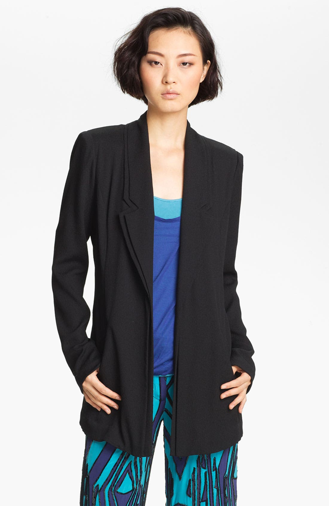 Alternate Image 2  - Tracy Reese Layered Lapel Stretch Crepe Jacket