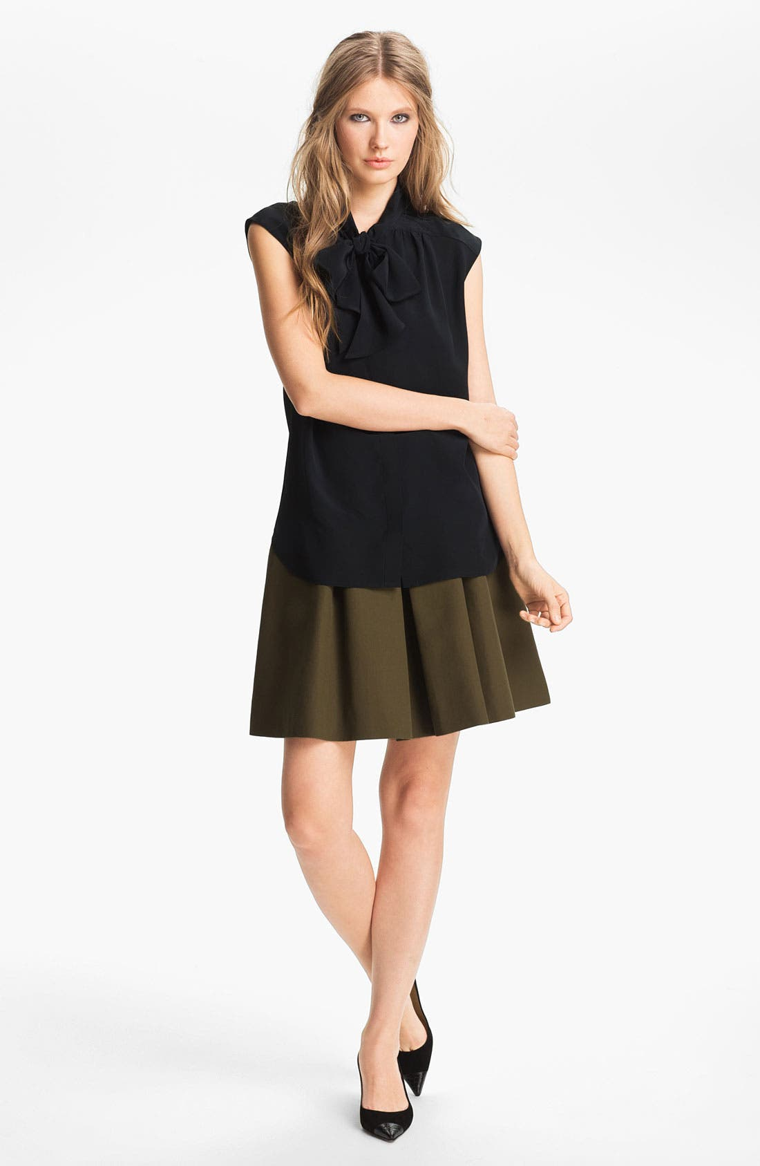 Alternate Image 4  - Miss Wu Tie Neck Crêpe de Chine Blouse (Nordstrom Exclusive)