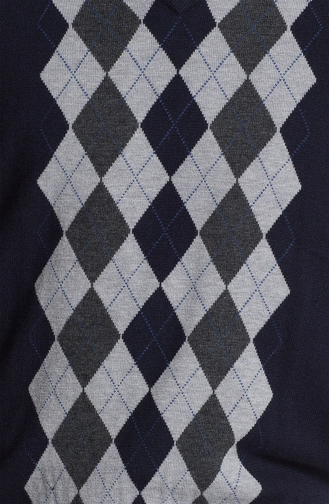 Alternate Image 3  - Toscano V-Neck Wool Blend Sweater Vest