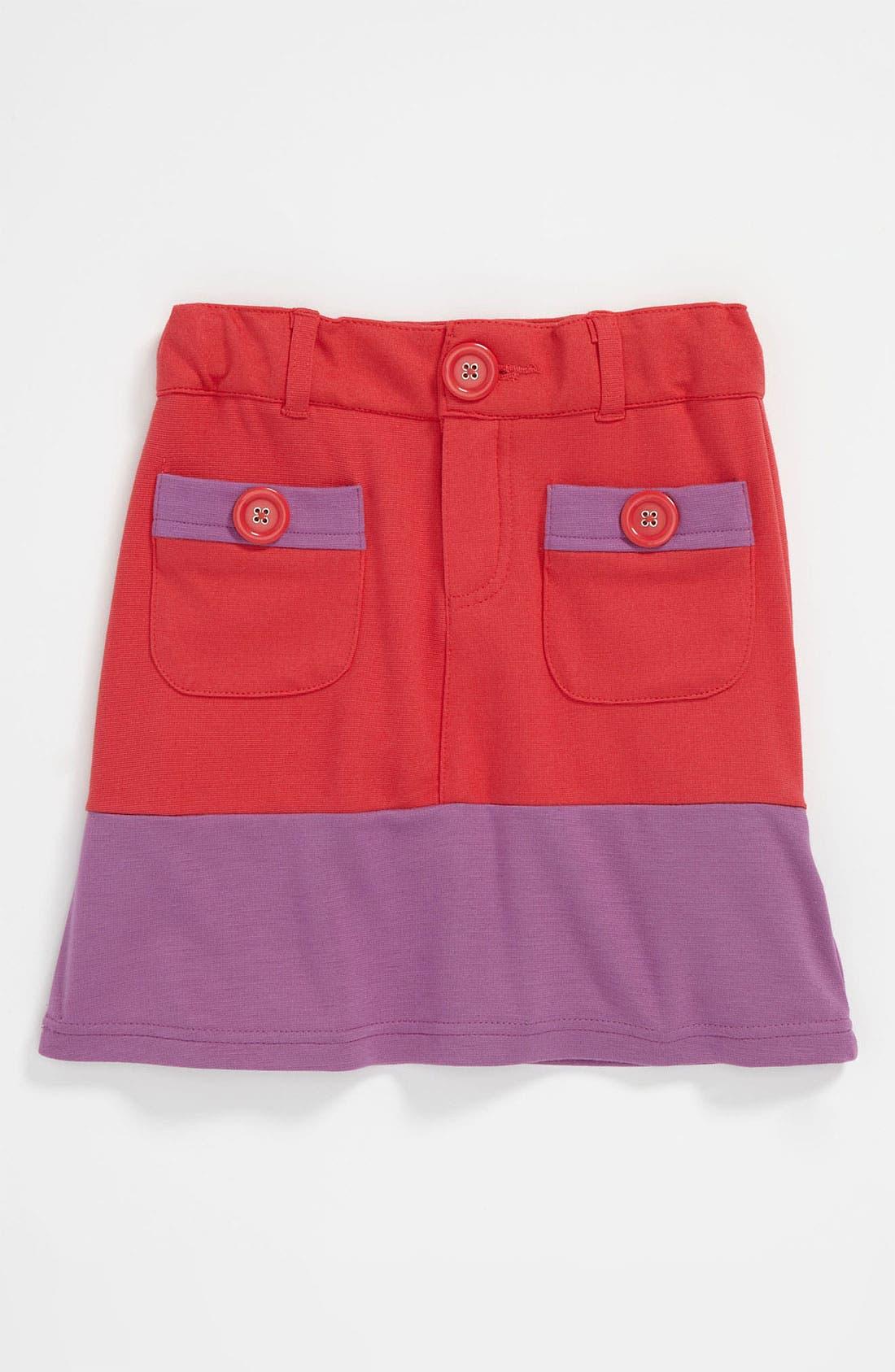 Main Image - Pumpkin Patch Colorblock Ponte Skirt (Little Girls & Big Girls)