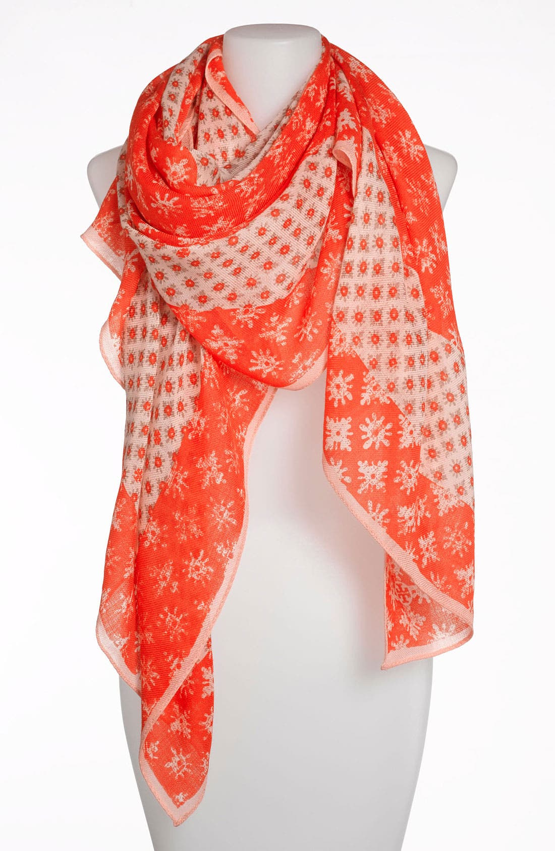 Alternate Image 1 Selected - Tory Burch 'Layton' Mix Print Scarf