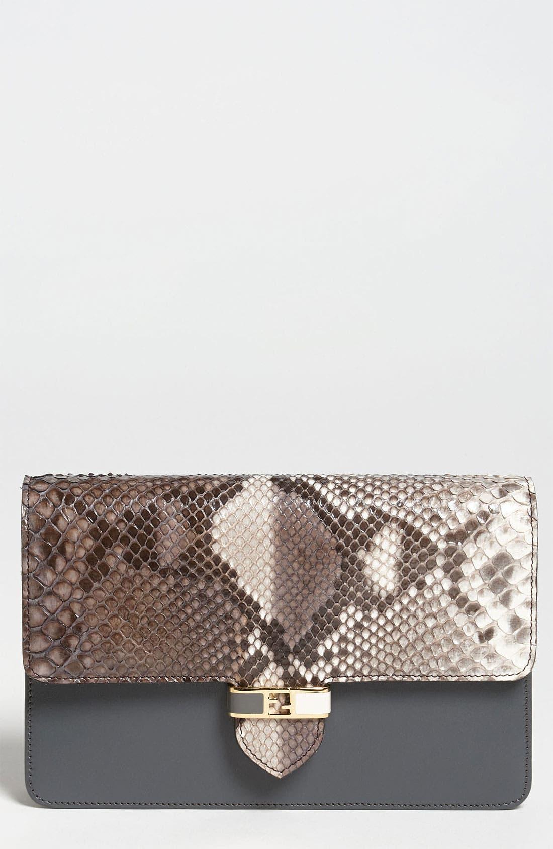Main Image - Fendi 'Mini' Genuine Python Crossbody Bag