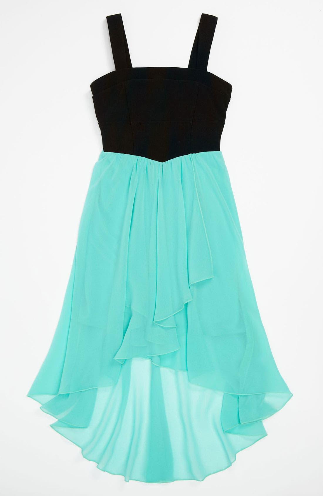 Alternate Image 1 Selected - Roxette High/Low Dress (Little Girls & Big Girls)