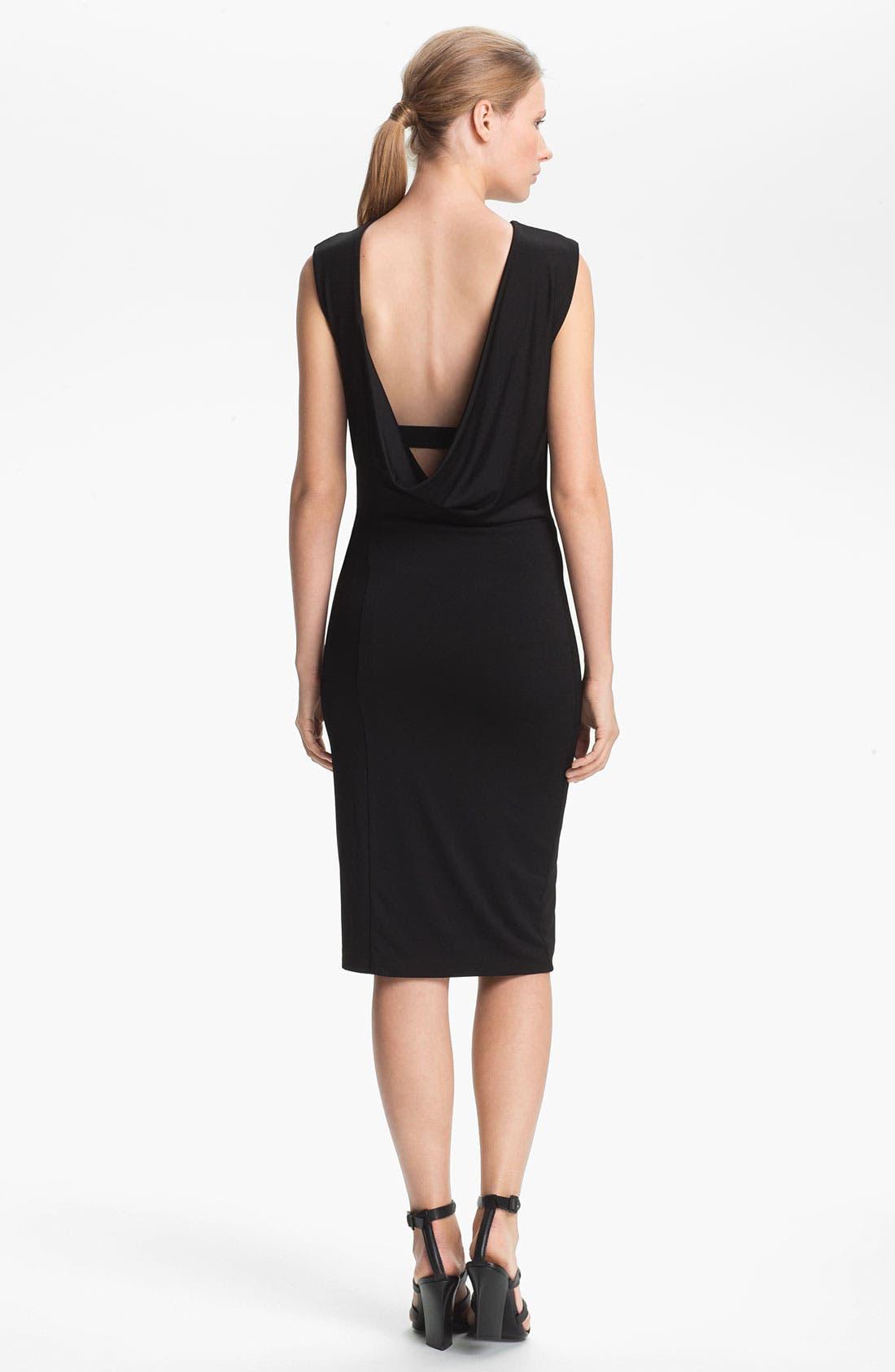 Alternate Image 2  - T by Alexander Wang Drape Back Jersey Dress