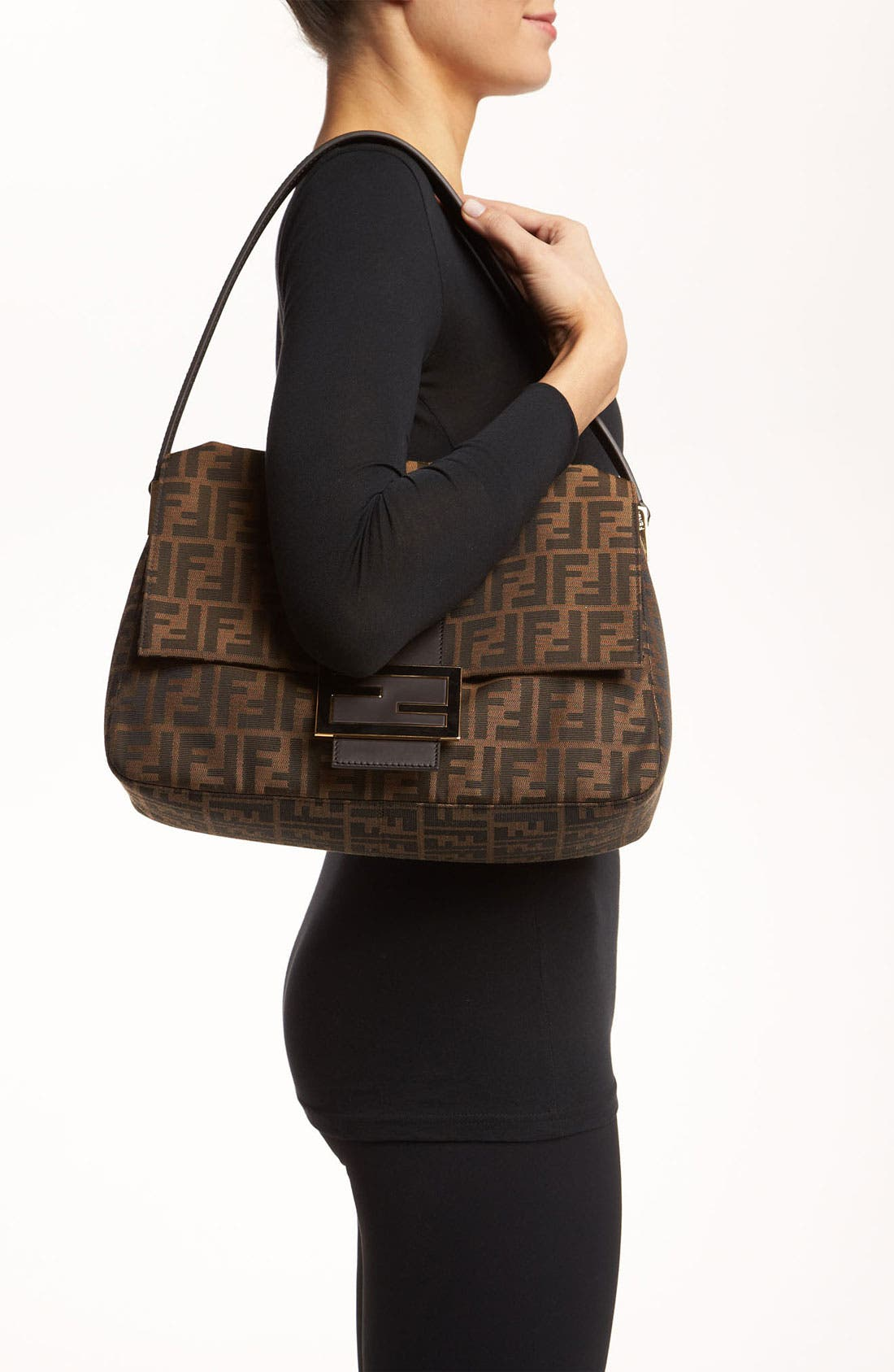 Alternate Image 2  - Fendi 'Zucca - Big Mama' Flap Bag