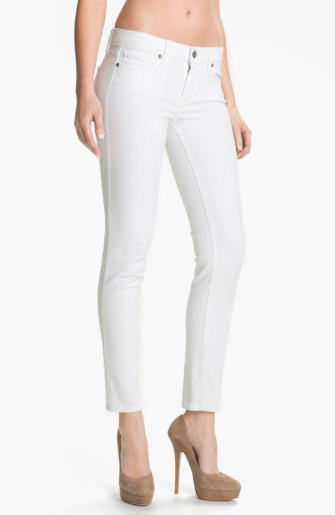 PAIGE 'Skyline' Ankle Peg Skinny Jeans (Optic White)