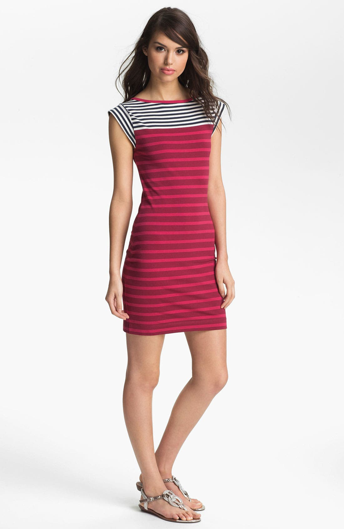 Alternate Image 1 Selected - French Connection Stripe Knit Dress