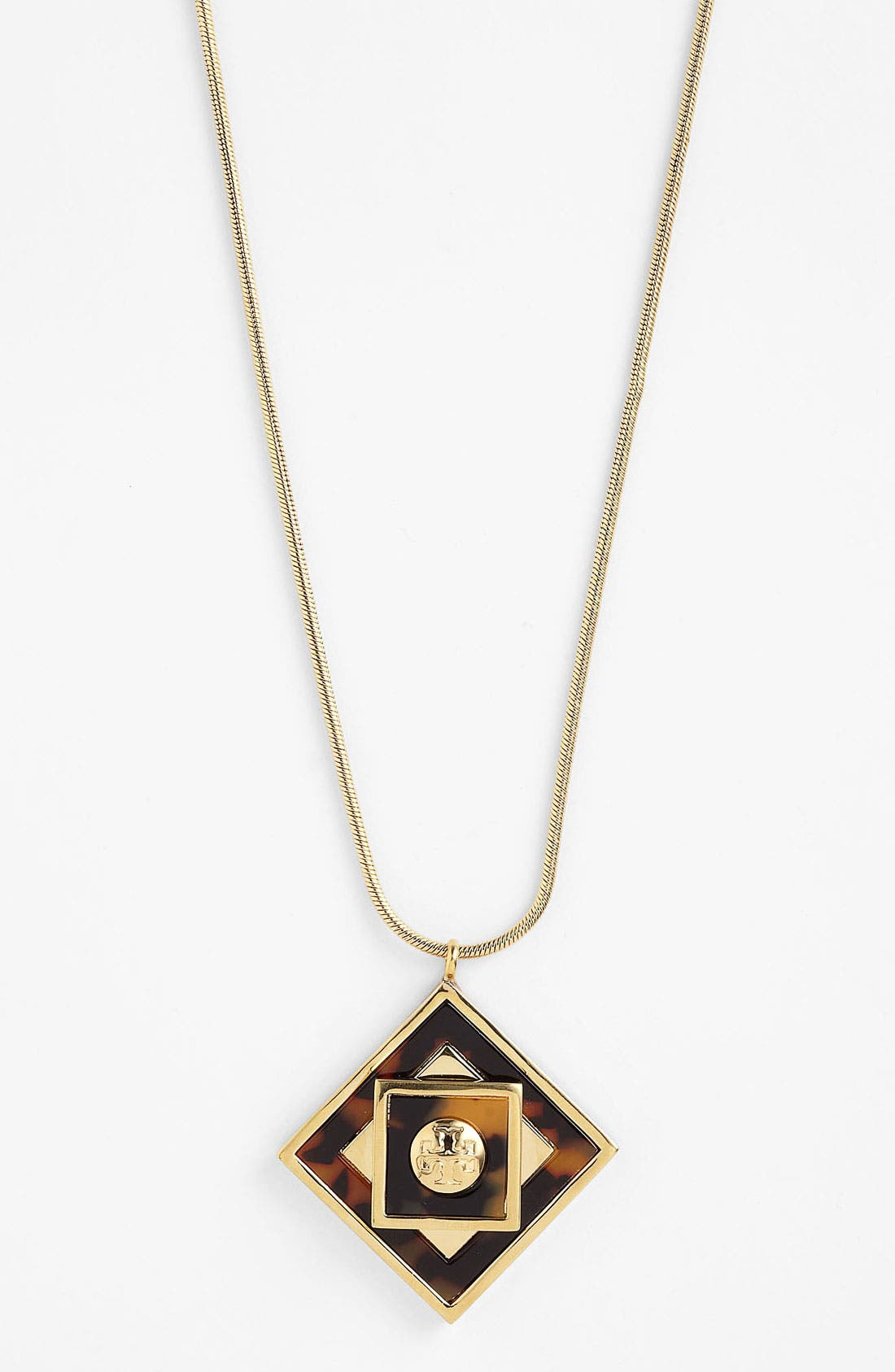 Main Image - Tory Burch 'Liam' Long Pendant Necklace
