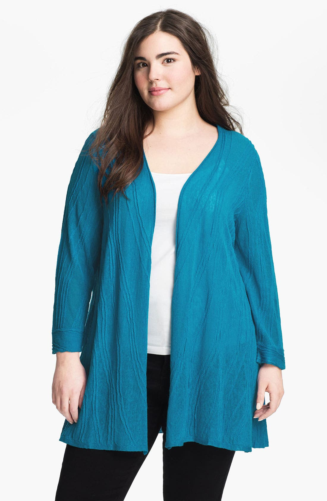 Alternate Image 1 Selected - Nic + Zoe Textured Cardigan (Plus)