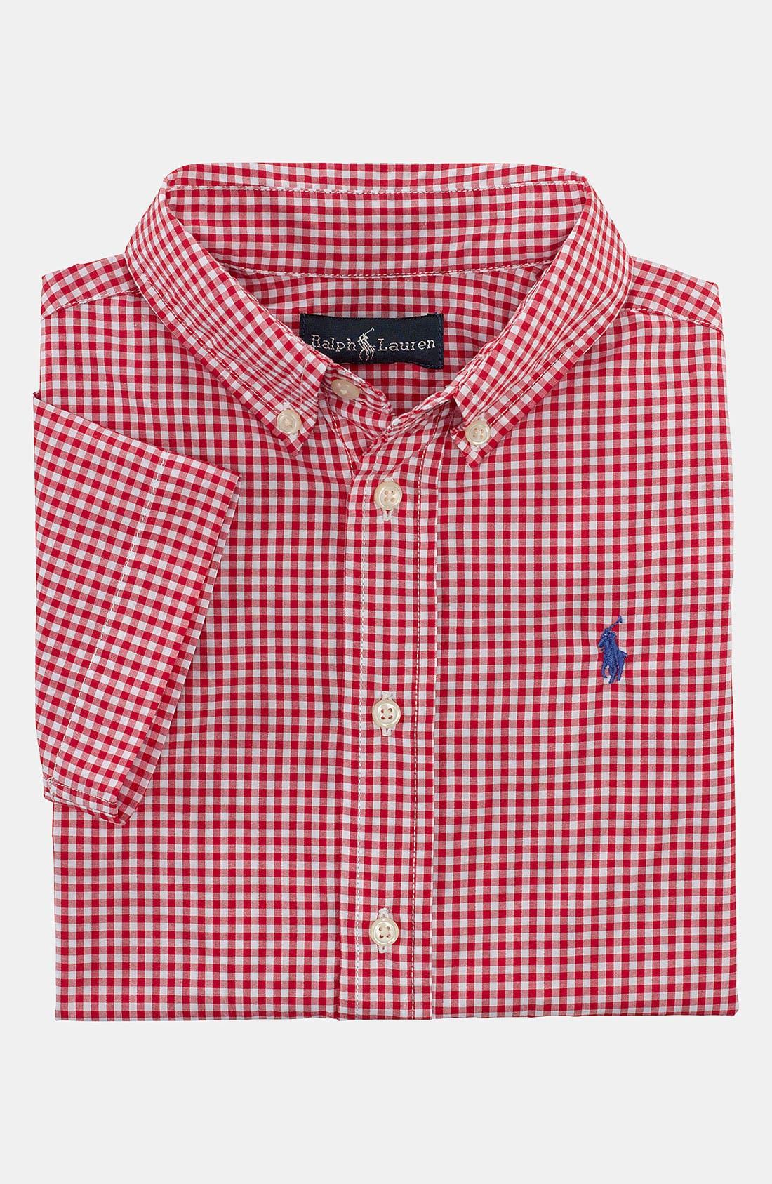 Alternate Image 1 Selected - Ralph Lauren Gingham Shirt (Toddler)