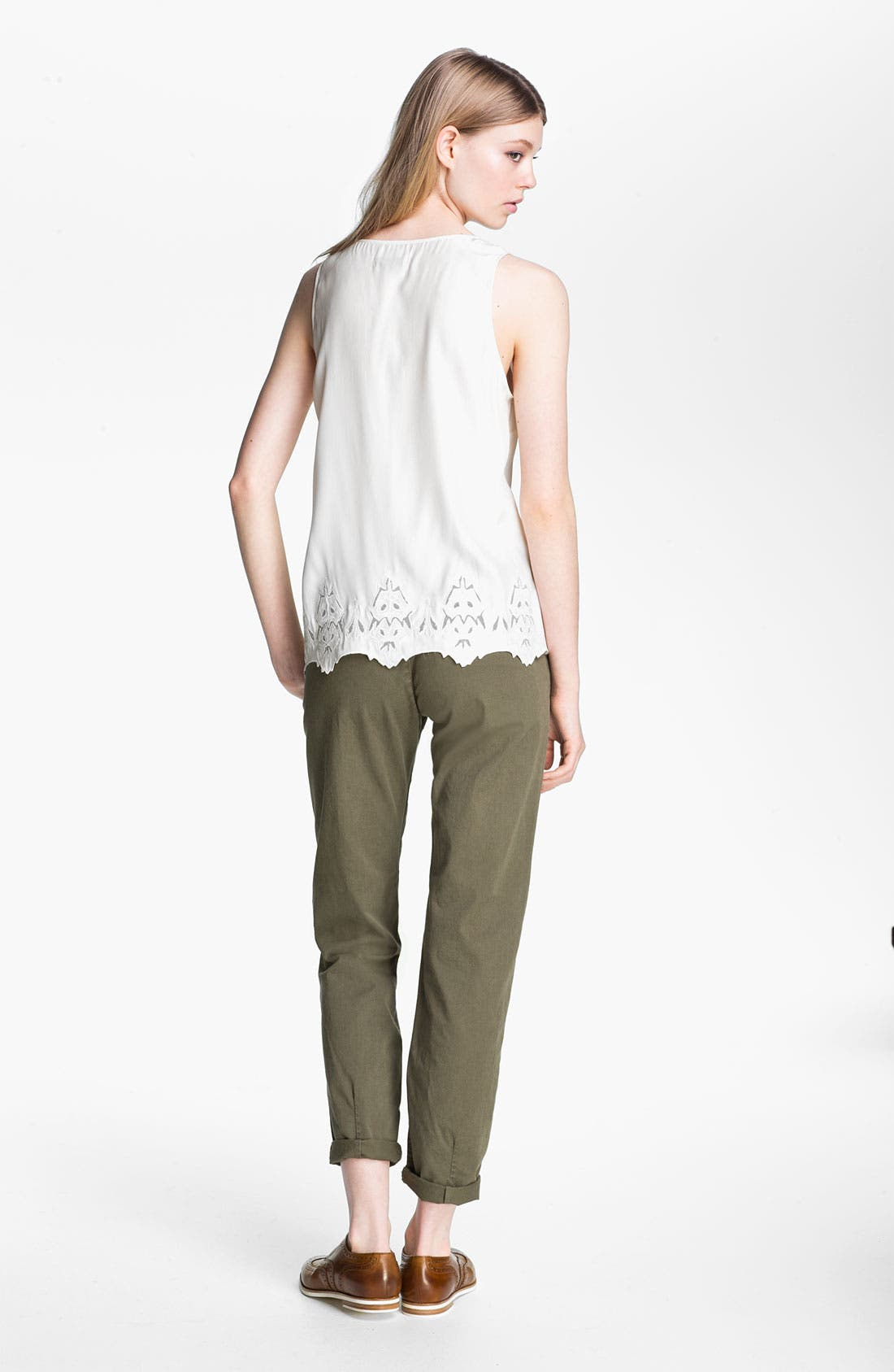 Alternate Image 2  - rag & bone 'Caleigh' Embroidered Silk Tank