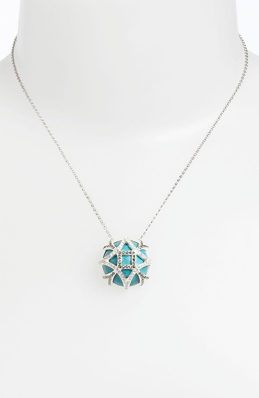 Main Image - Judith Jack 'Turq Matrix' Pendant Necklace