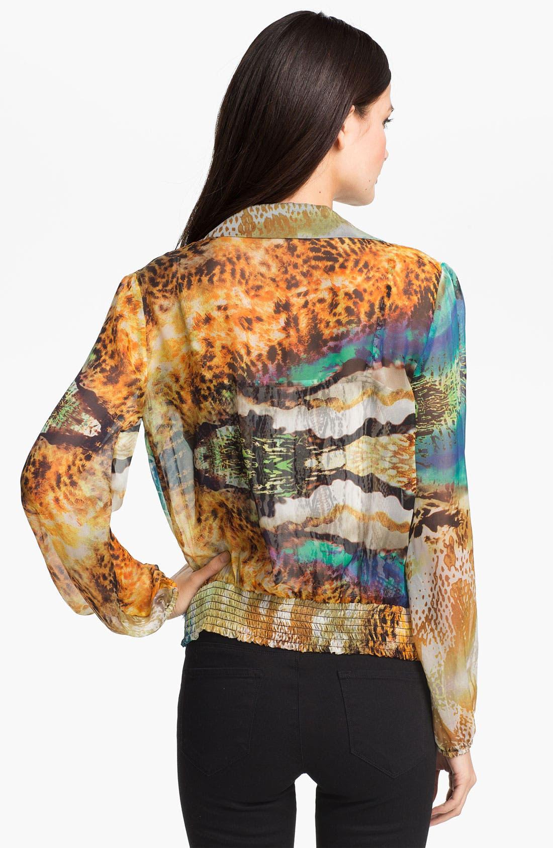 Alternate Image 2  - Alberto Makali 'Ocean' Print Silk Blouse & Camisole