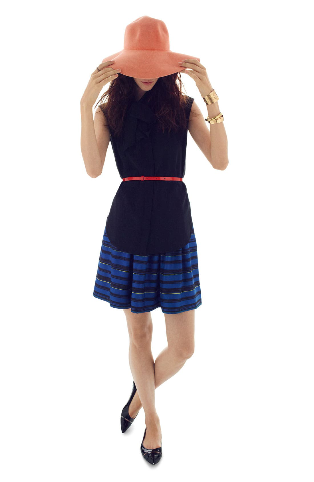 Alternate Image 5  - Miss Wu 'Lush' Stripe Silk Twill Skirt (Nordstrom Exclusive)