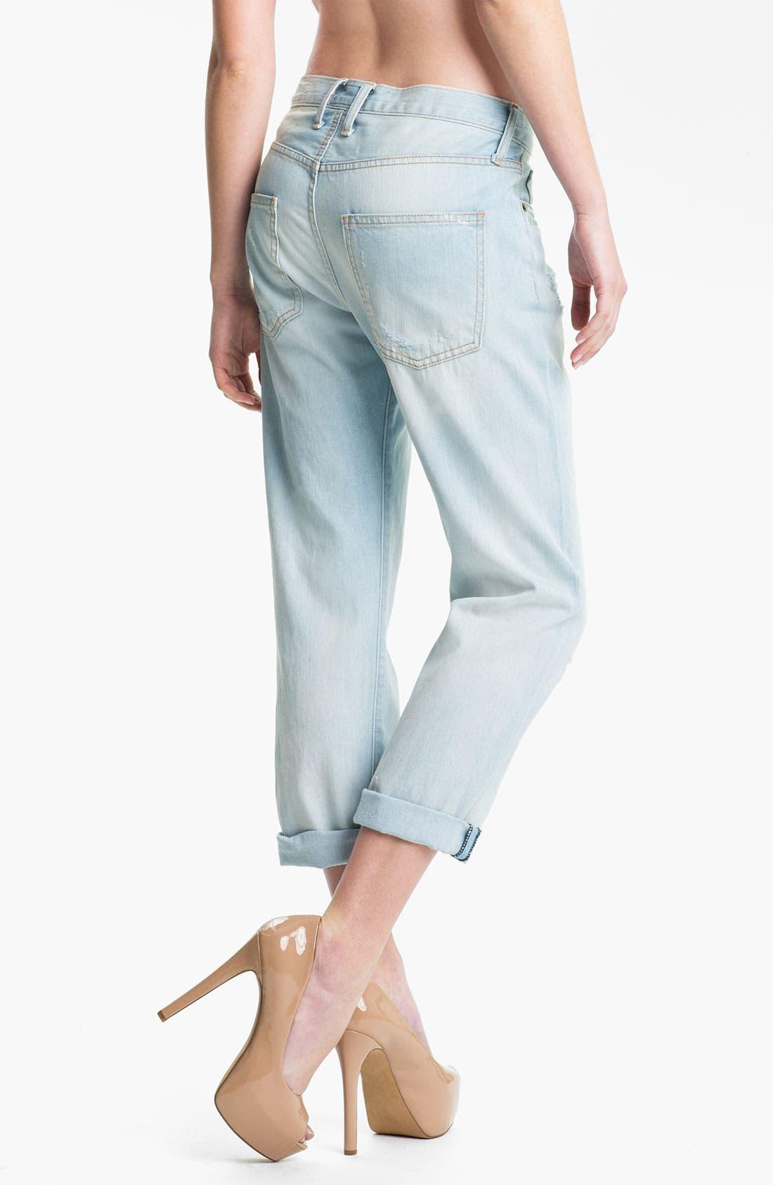 Alternate Image 2  - Current/Elliott 'The Boyfriend' Distressed Jeans (Parlor/Destroy)