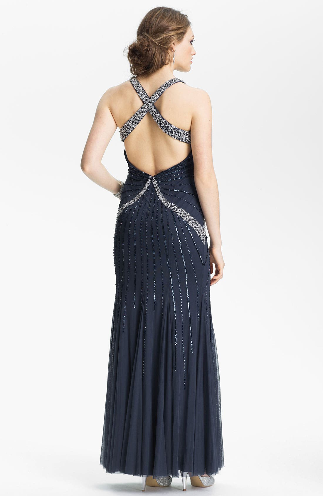 Alternate Image 2  - Sean Collection Embellished Mesh Gown (Online Only)