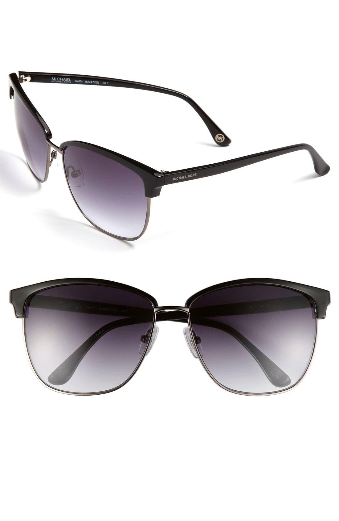 Alternate Image 1 Selected - MICHAEL Michael Kors 'Griffin' 60mm Retro Sunglasses