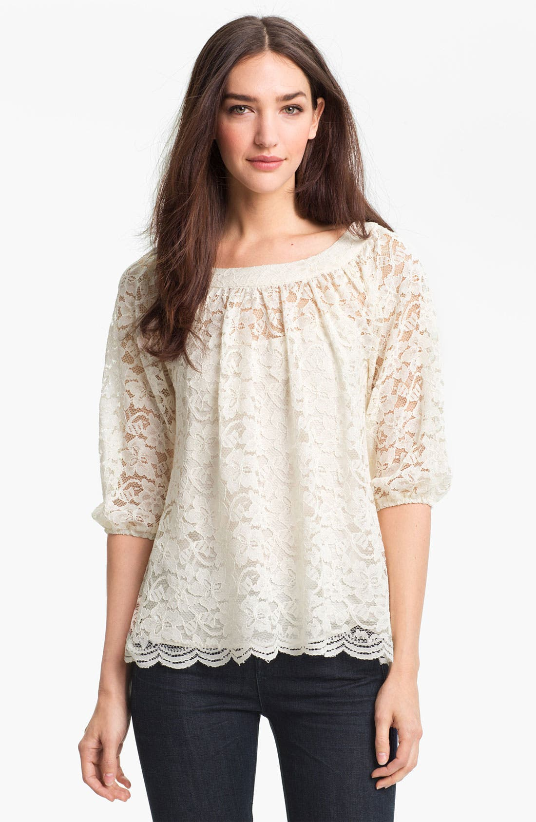 Alternate Image 1 Selected - Diane von Furstenberg 'Elizabetta' Lace Top