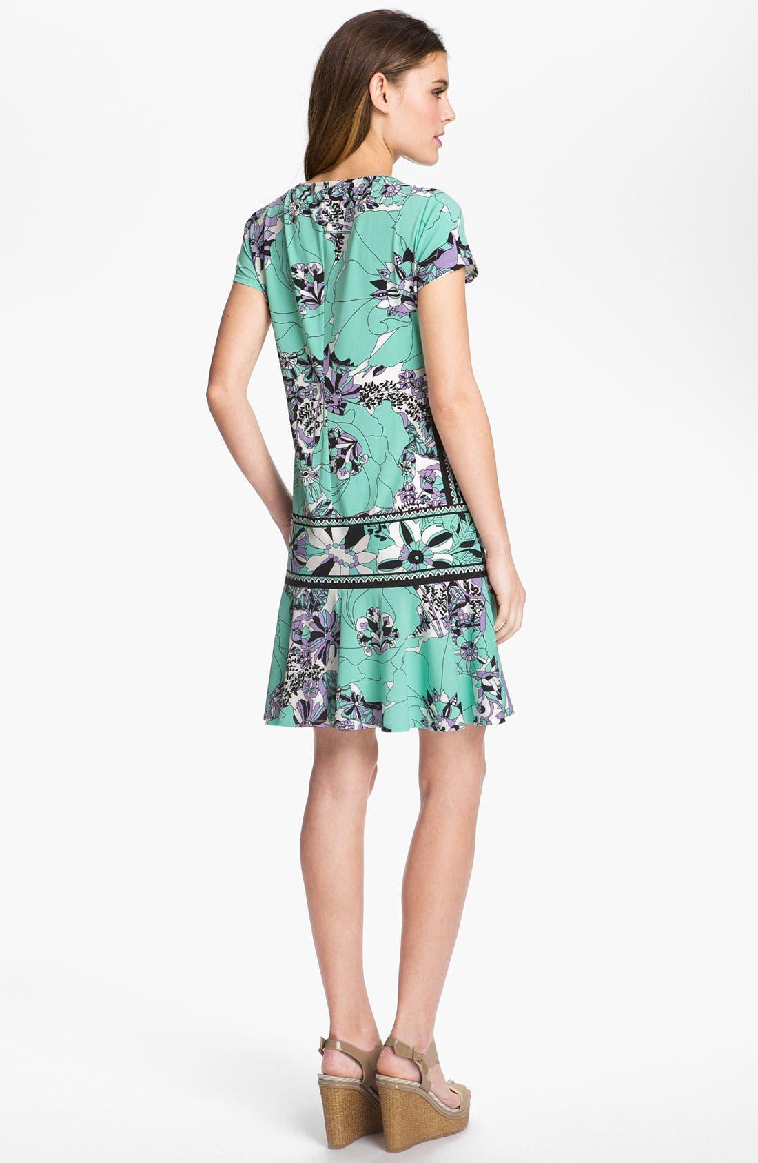 Alternate Image 2  - Donna Morgan Drop Waist Print Jersey Dress