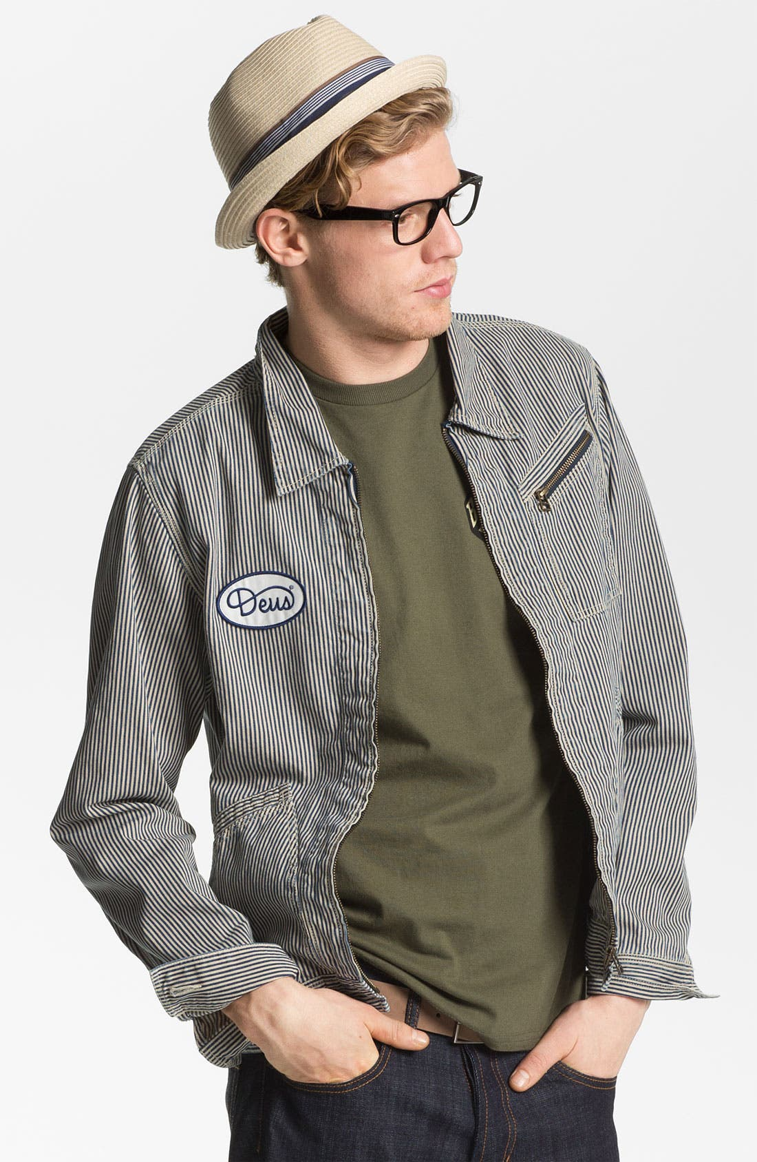 Alternate Image 1 Selected - Deus Ex Machina Stripe Denim Jacket