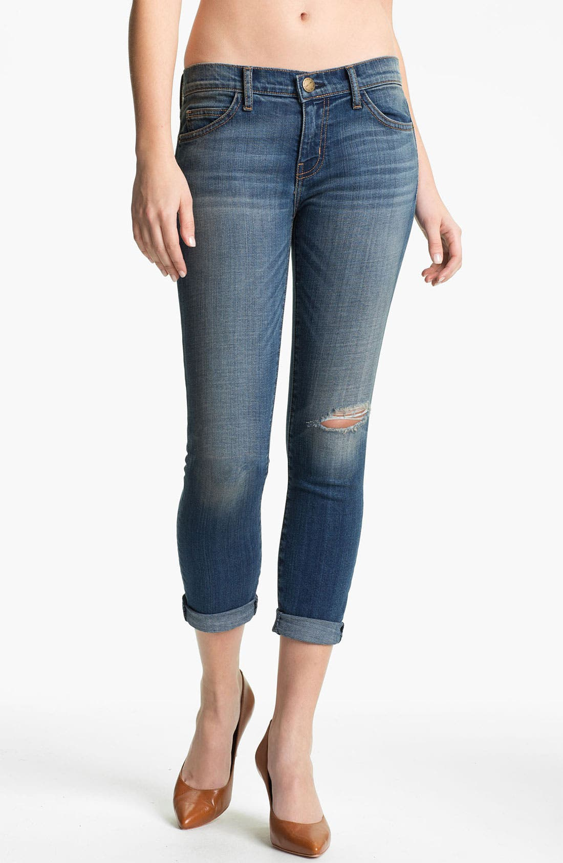 Main Image - Current/Elliott 'The Stiletto' Skinny Stretch Jeans (Juke Box/Destroy)