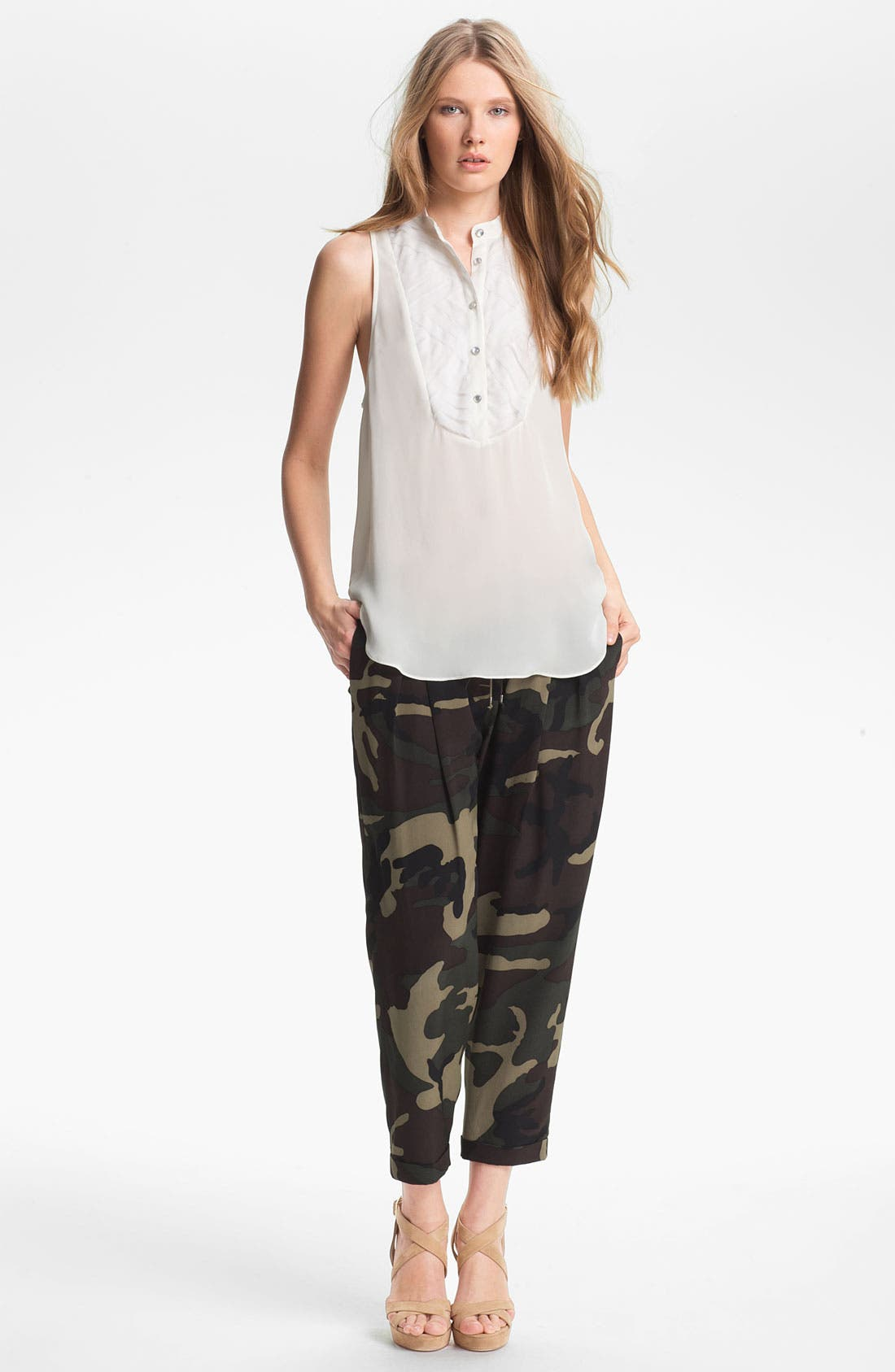 Alternate Image 5  - Haute Hippie Camo Print Drawstring Trousers