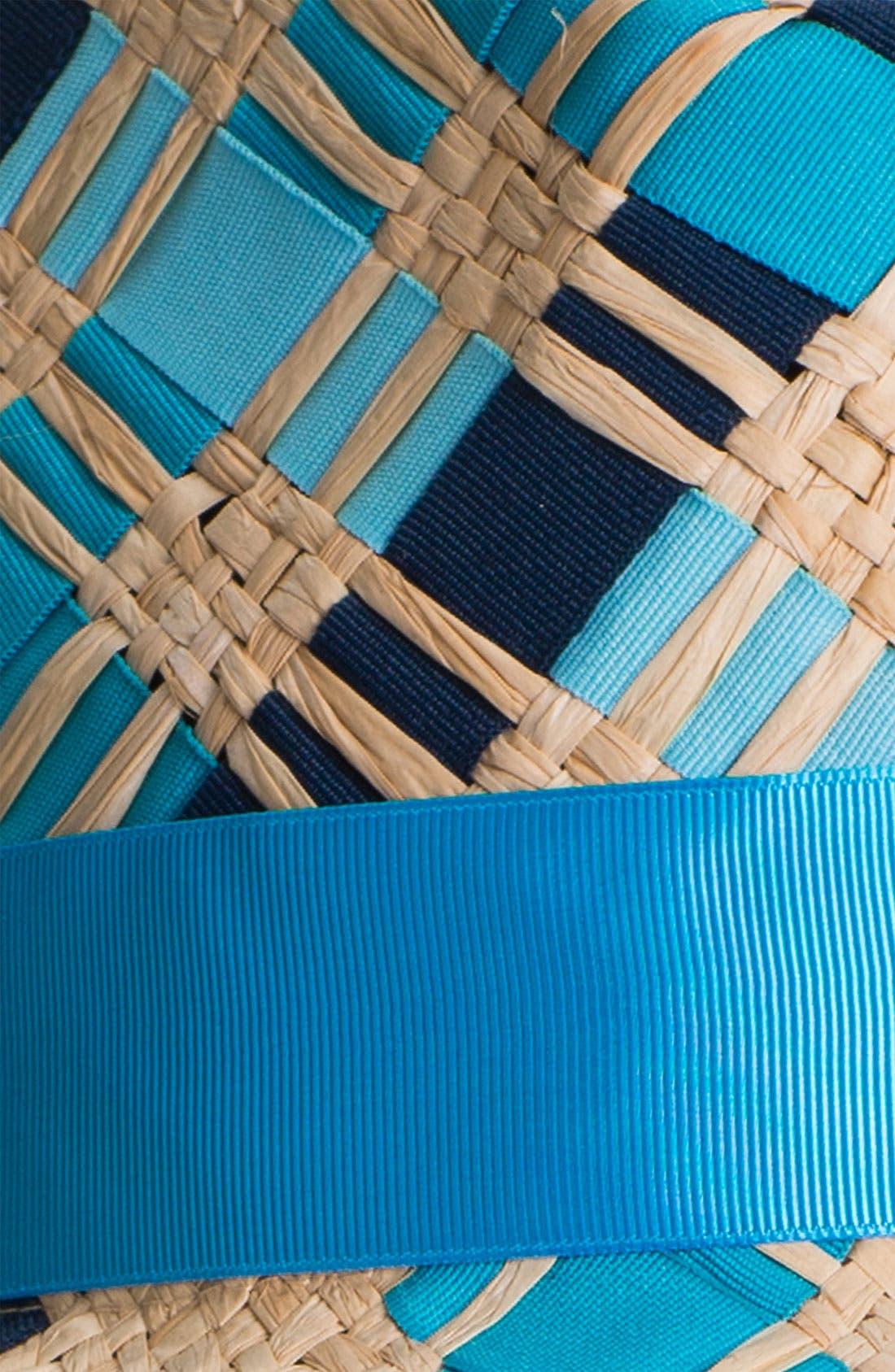 Alternate Image 2  - Jonathan Adler Ribbon & Straw Handwoven Fedora