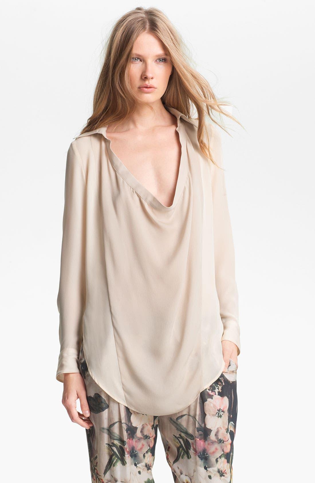 Alternate Image 3  - Haute Hippie Draped Silk Blouse