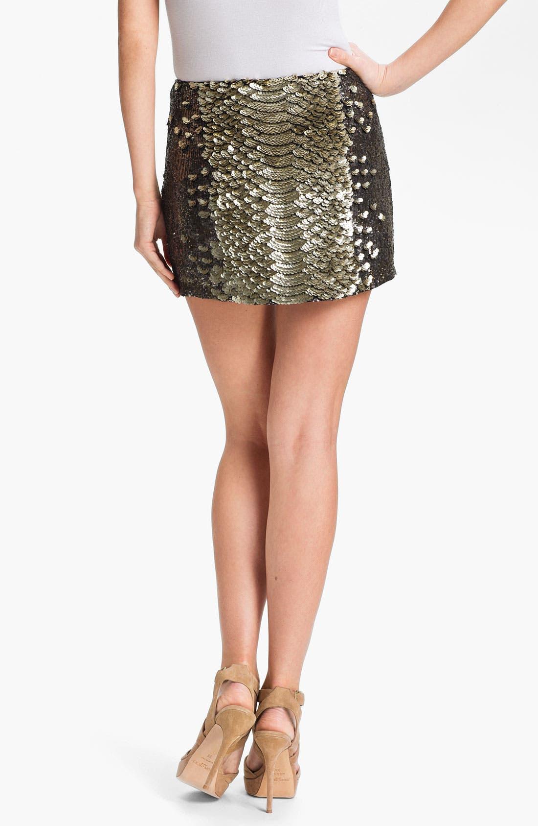 Alternate Image 2  - Haute Hippie Sequin Miniskirt