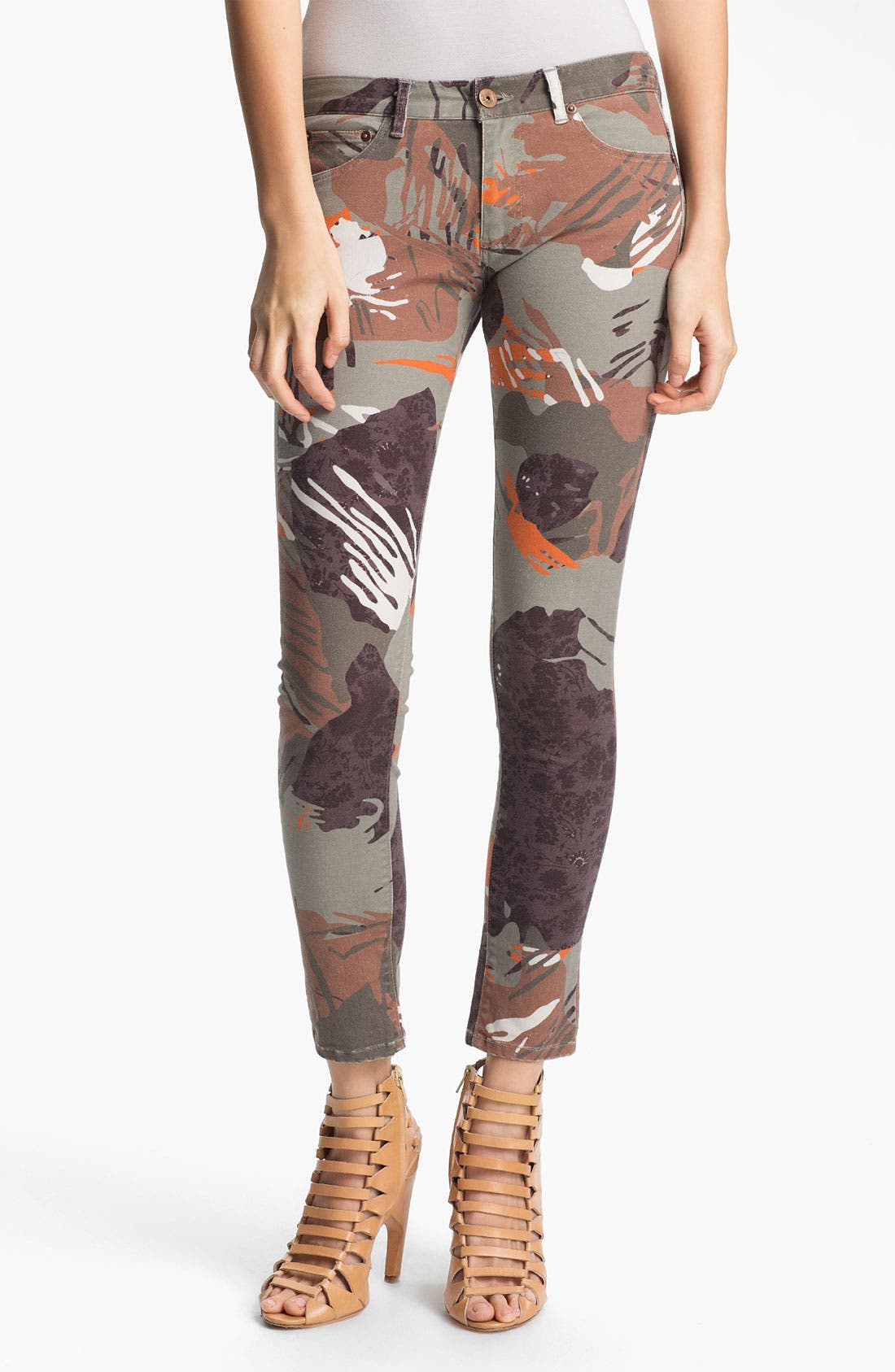 Main Image - Edun 'Zimbabwe' Floral Print Skinny Stretch Jeans