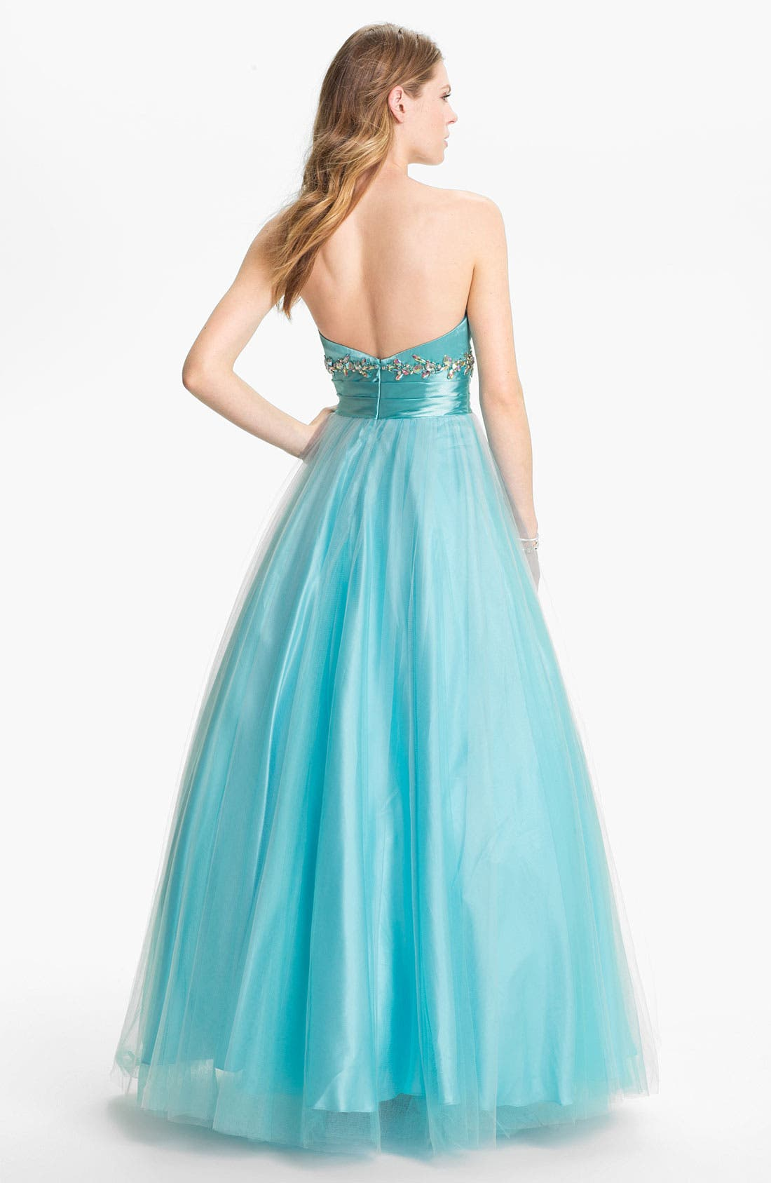 Alternate Image 2  - Sean Collection 'Princess' Embellished Satin & Tulle Ballgown (Online Exclusive)