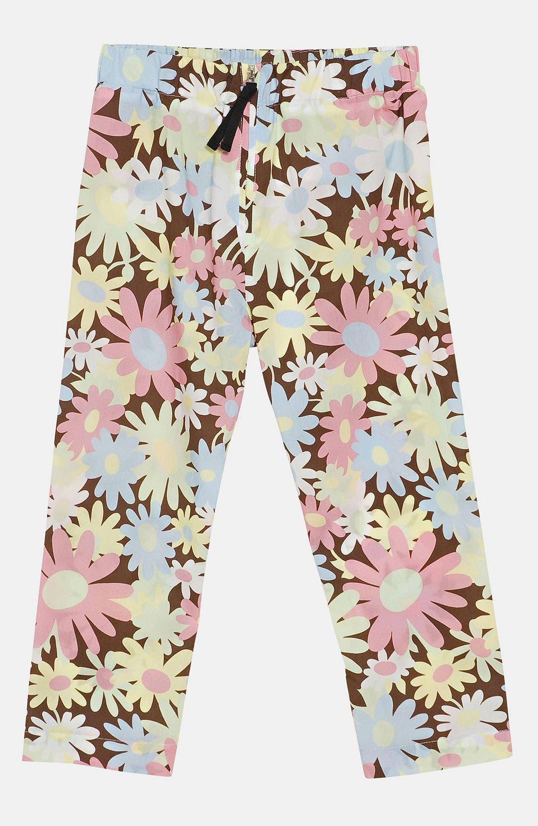 Main Image - Marni Floral Print Trousers (Little Girls & Big Girls)