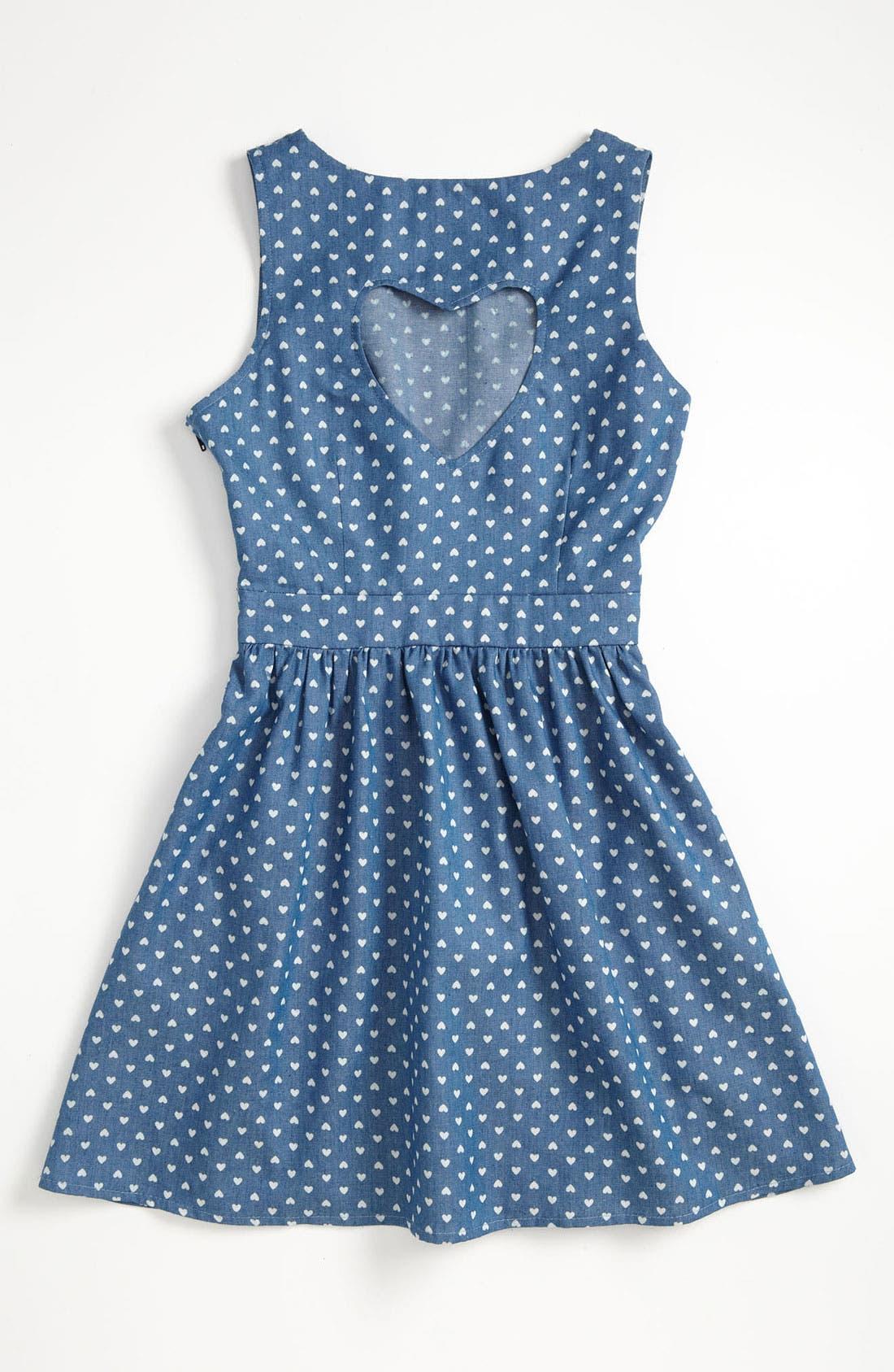 Alternate Image 2  - Mia Chica Chambray Dress (Little Girls & Big Girls)