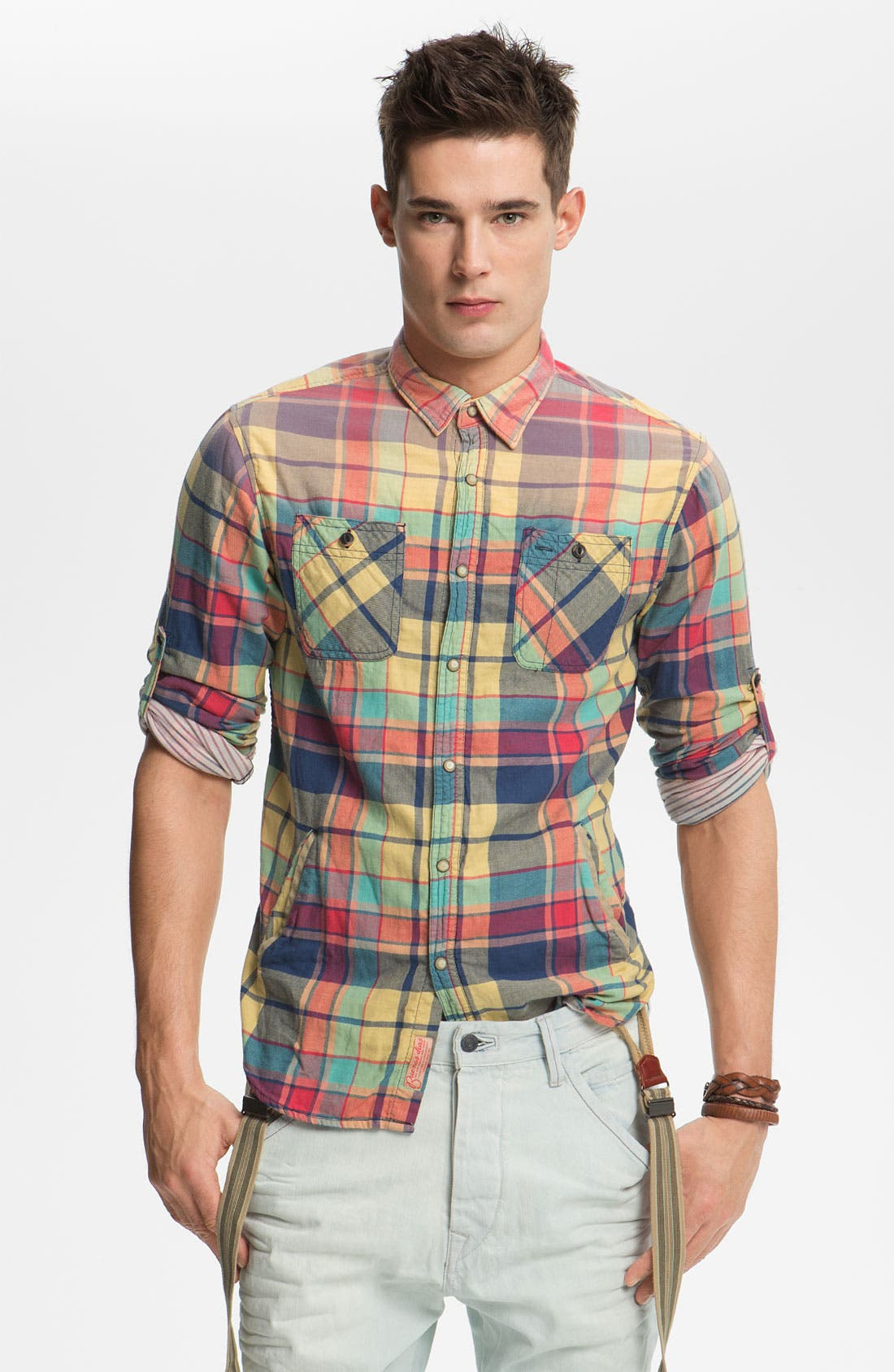 Alternate Image 1 Selected - Scotch & Soda Snap Flannel Shirt