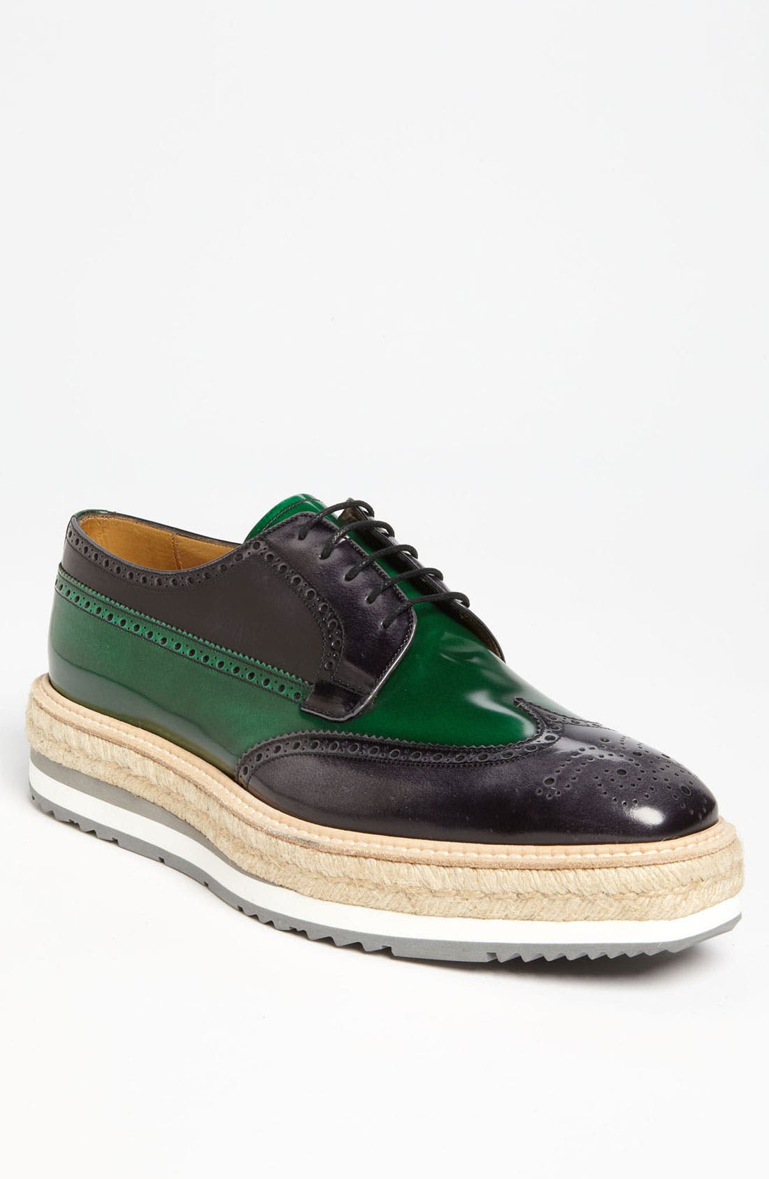 Alternate Image 1 Selected - Prada Double Sole Wing Tip Oxford