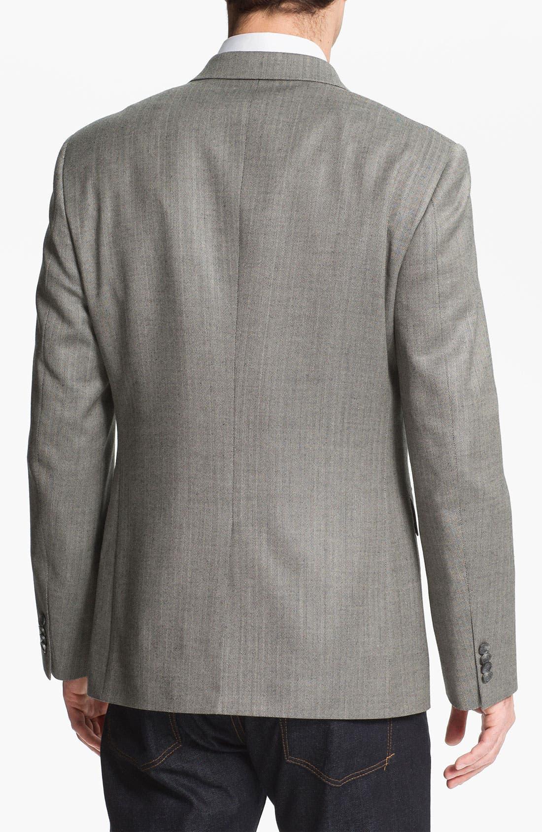 Alternate Image 2  - John W. Nordstrom® Silk Blend Blazer