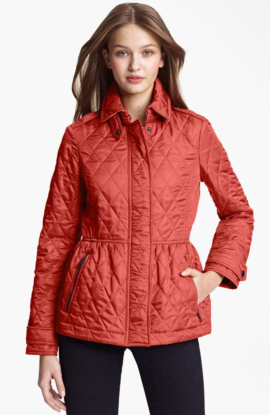 Main Image - Burberry Brit 'Oakleigh' Quilted Jacket (Online Exclusive)