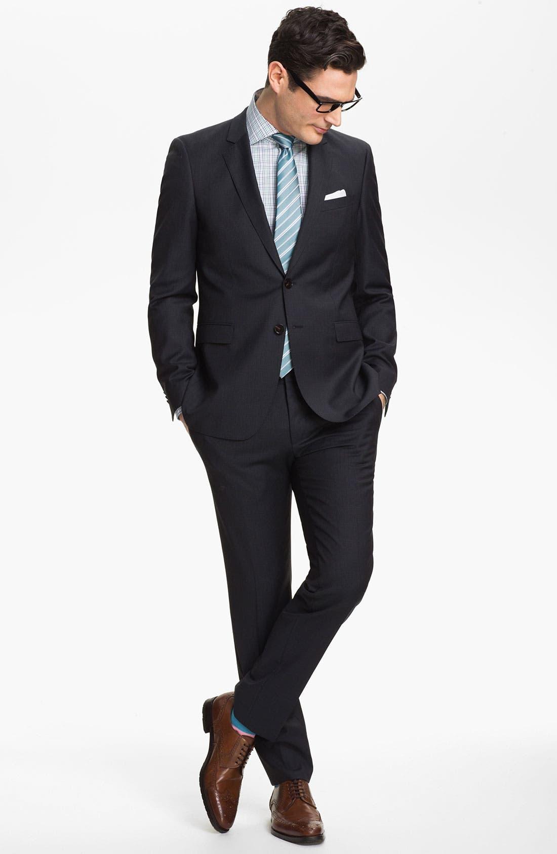 Alternate Image 2  - BOSS HUGO BOSS 'Ryan/Win' Extra Trim Fit Suit