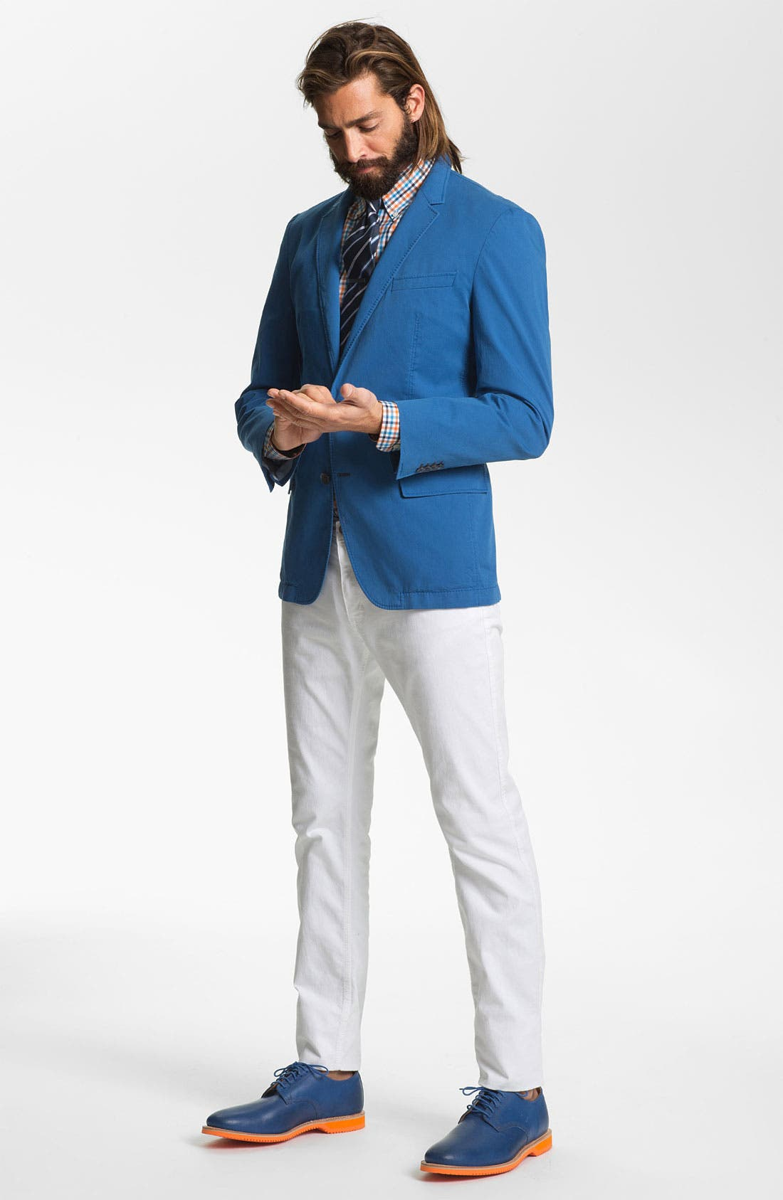 Alternate Image 4  - BOSS HUGO BOSS 'Heaven' Trim Fit Cotton Blazer (Online Only)