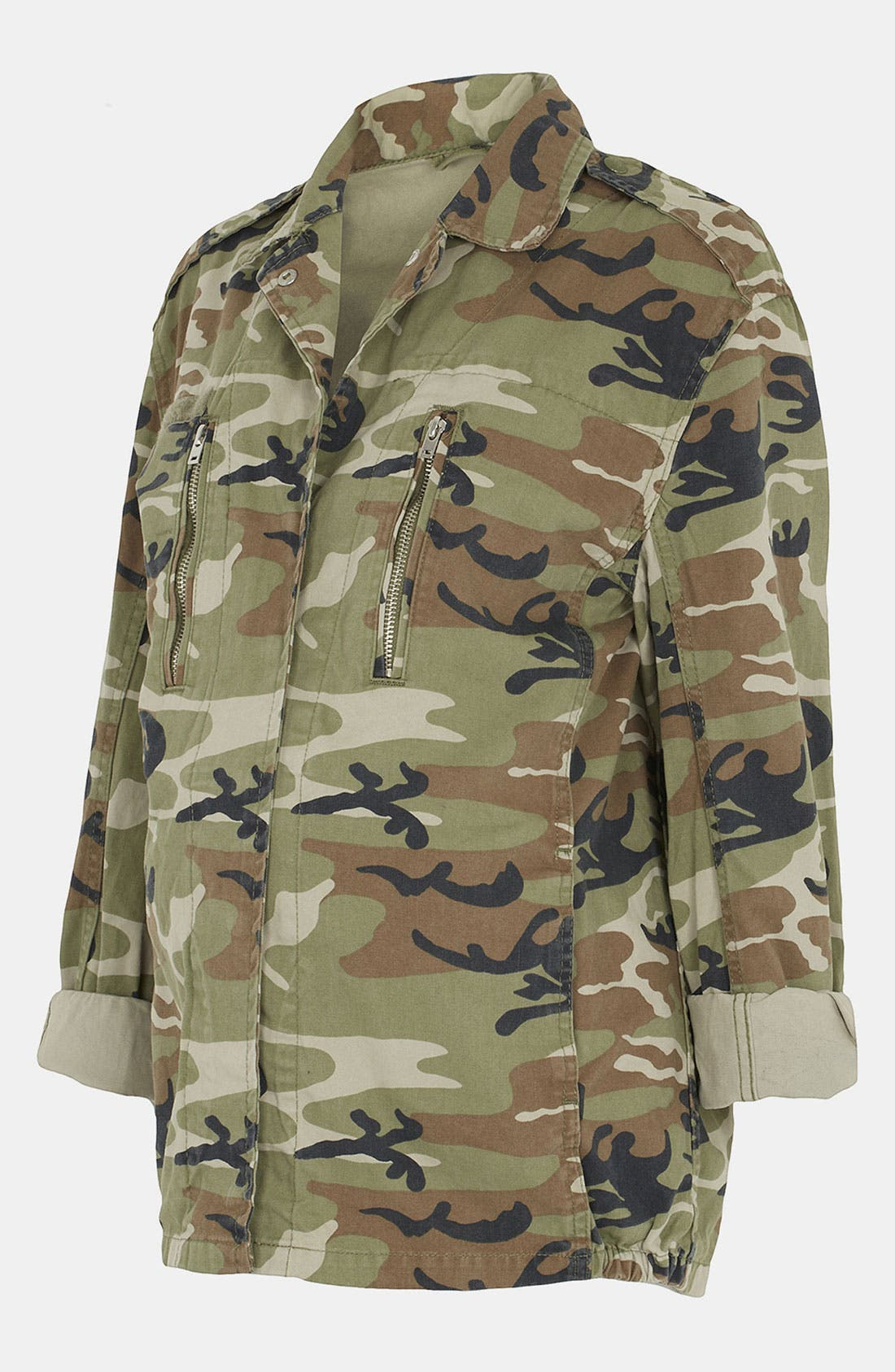 Alternate Image 1 Selected - Topshop Camo Maternity Jacket
