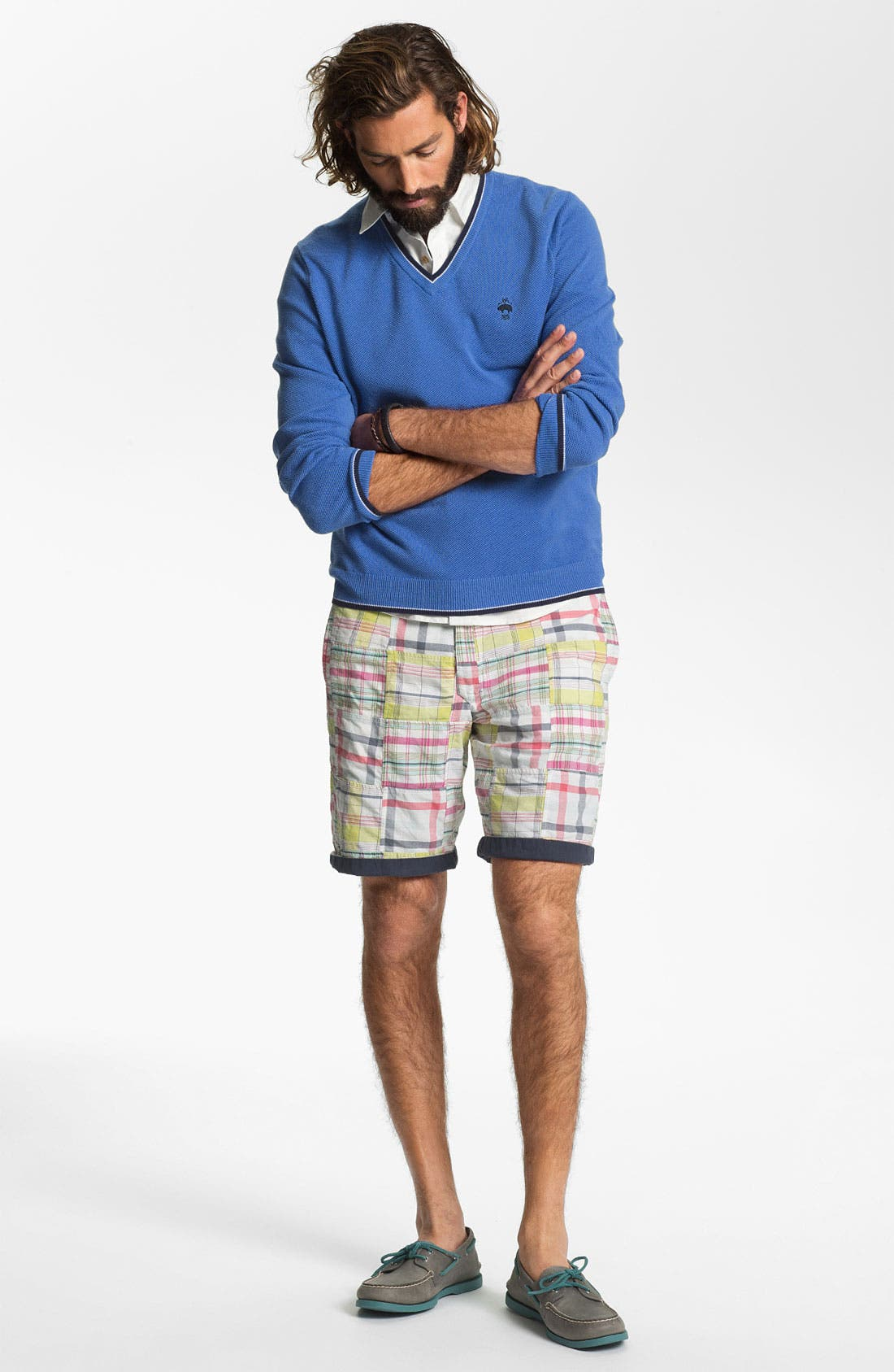 Alternate Image 4  - Brooks Brothers V-Neck Supima® Cotton Sweater