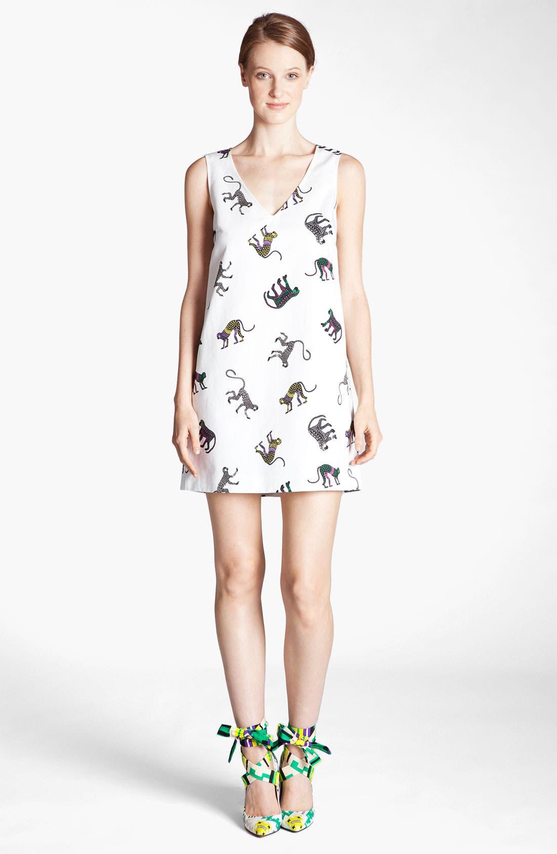 Alternate Image 1 Selected - MSGM Monkey Print Dress